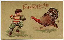 Thanksgiving and Football illustration
