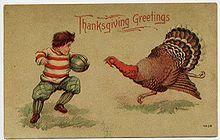 Thanksgiving and Football illustration
