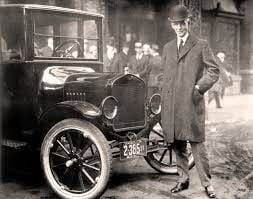 Henry Ford 1921 with car