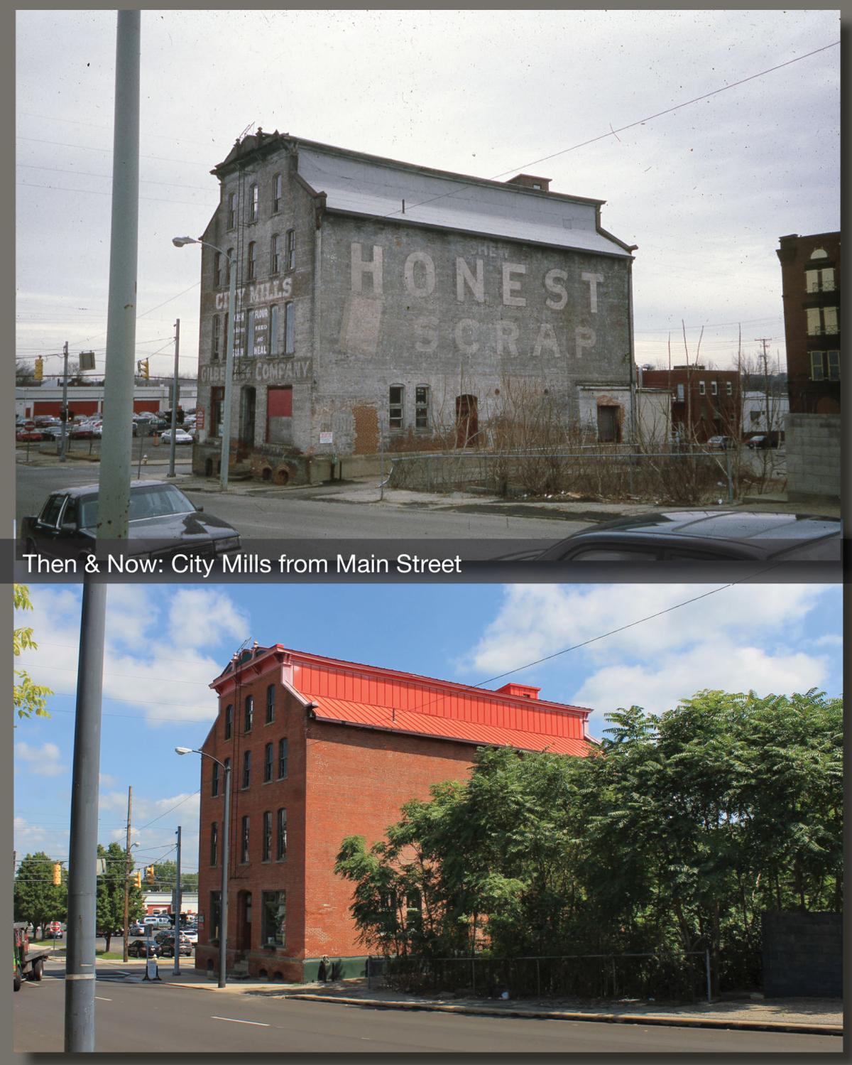 Then & Now: City Mills from Main Street