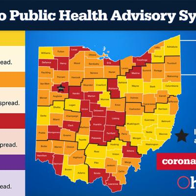 COVID-19: Richland County remains 'red' in state advisory system