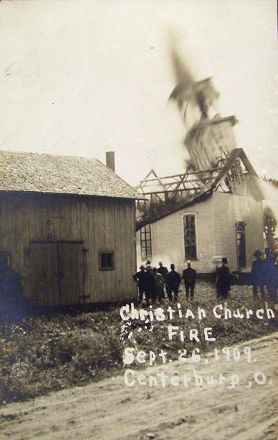 Centerburg Christian Church Fire