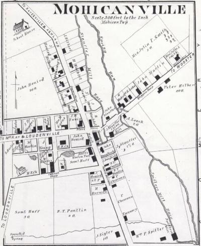 1874 map of Mohicanville
