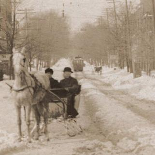 Park Avenue West in the Snow 1911