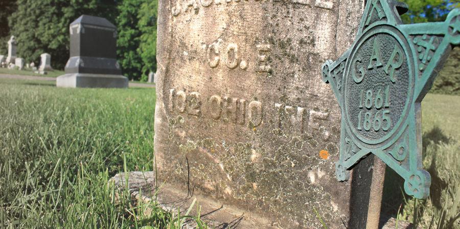 Bellville gravestone with Company E