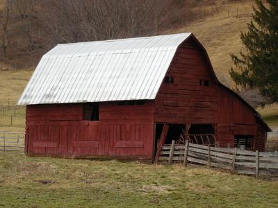 barn on farmland