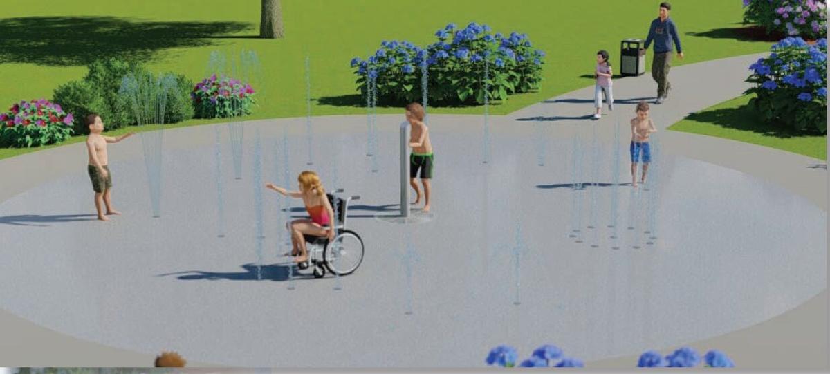 Splash Pad rendering