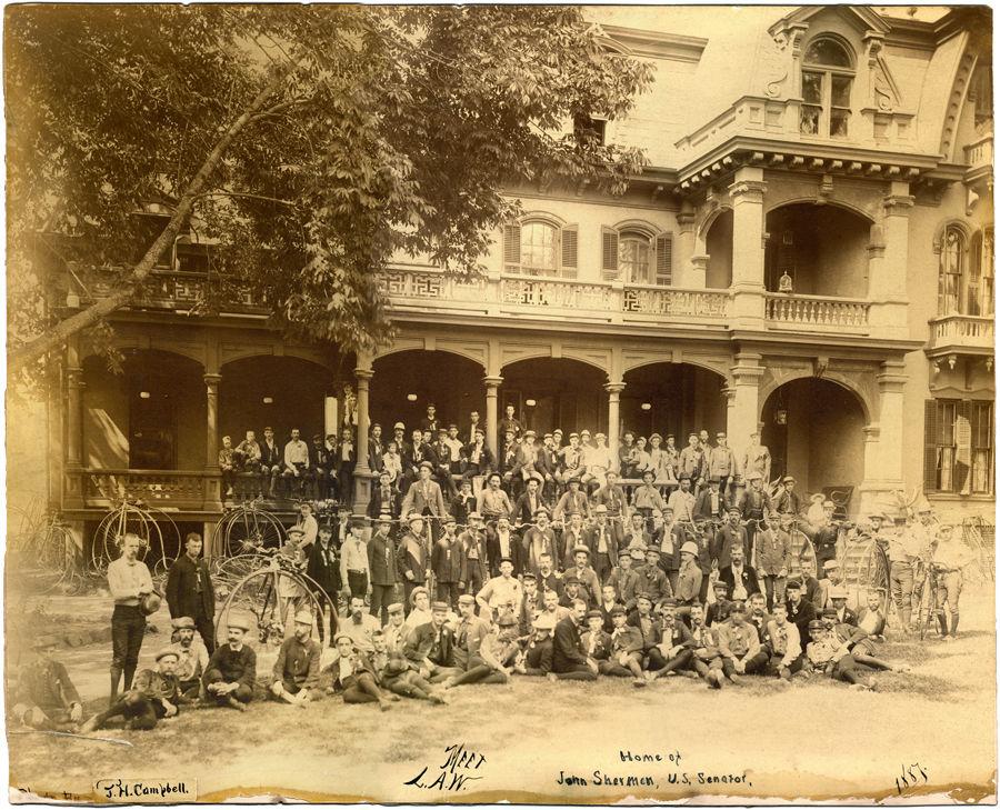 Ohio's wheelmen at Sherman's on Park Avenue West in 1887
