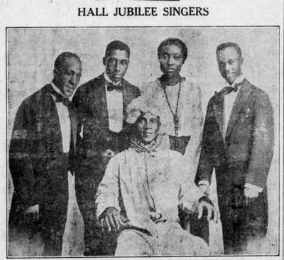Hall's Jubilee singers 1919