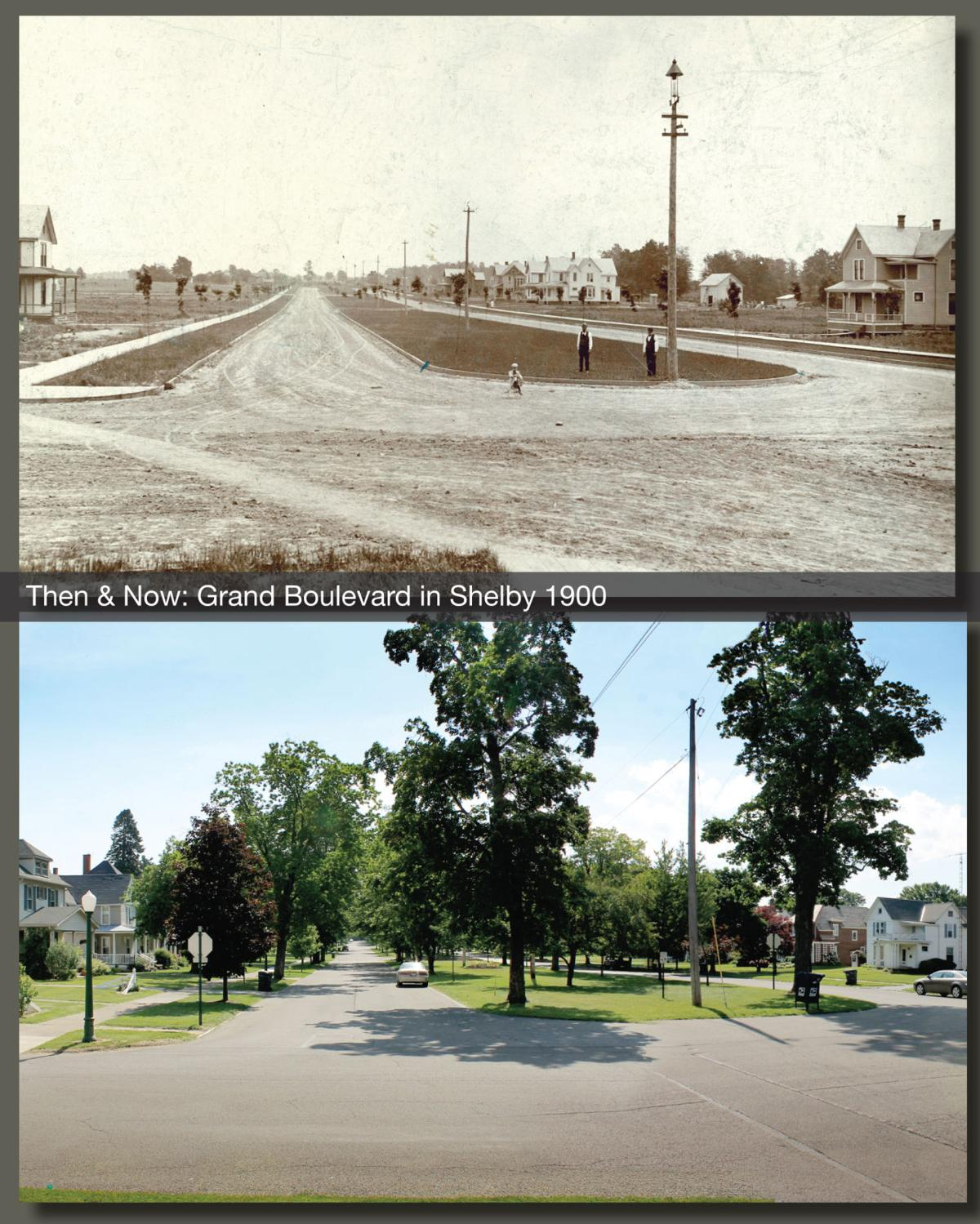 Then & Now: Grand Boulevard in Shelby 1900
