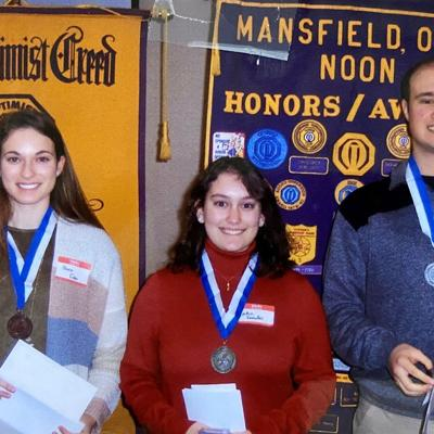 Ontario, Plymouth, Clear Fork students honored in Optimist Club essay contest