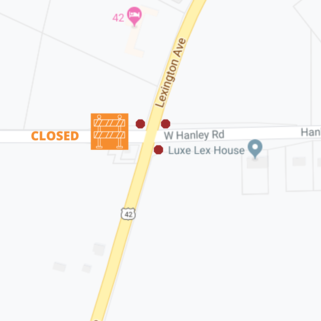ODOT: Temporary change at  US 42 & Hanley Road intersection
