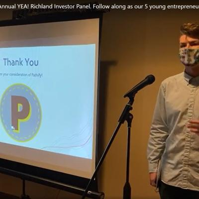 Student entrepreneurs show creativity and confidence at business plan pitch