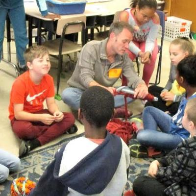 Knitting by Malabar fourth-graders has a special purpose