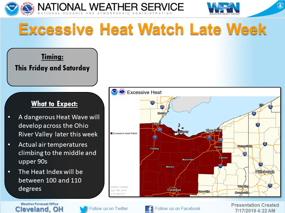 Weather officials issue 'excessive heat watch' for Friday, Saturday