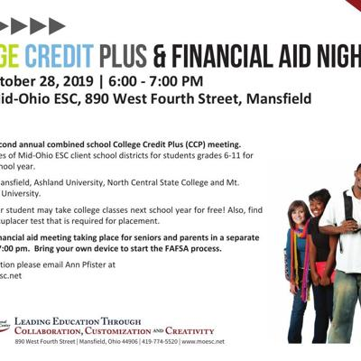 Mid-Ohio Educational Service Center to host College Credit Plus & financial aid event