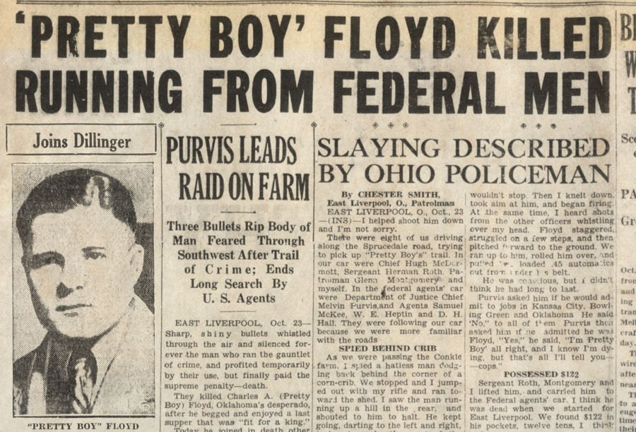 Native Son Pretty Boy Floyd And Christmas In Mansfield 1930 Area
