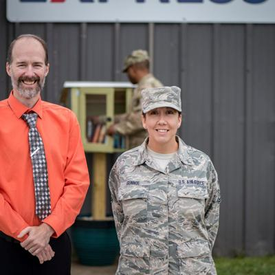 Mansfield/Richland County Public Library partner with 179th Airlift Wing to provide Free Little Libraries