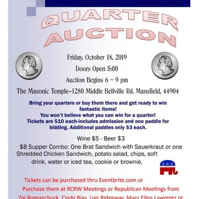 Richland County Republican Women planning 'Quarter Auction'