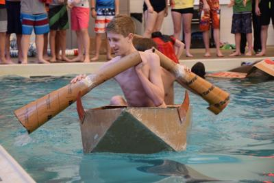 Hillsdale Middle Schoolers set sail in cardboard boats