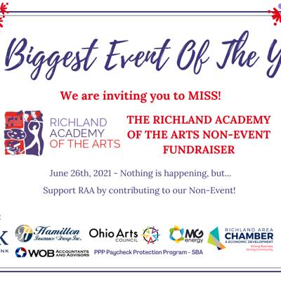 Richland Academy of the Arts begins Non-Event Fundraiser through June 26