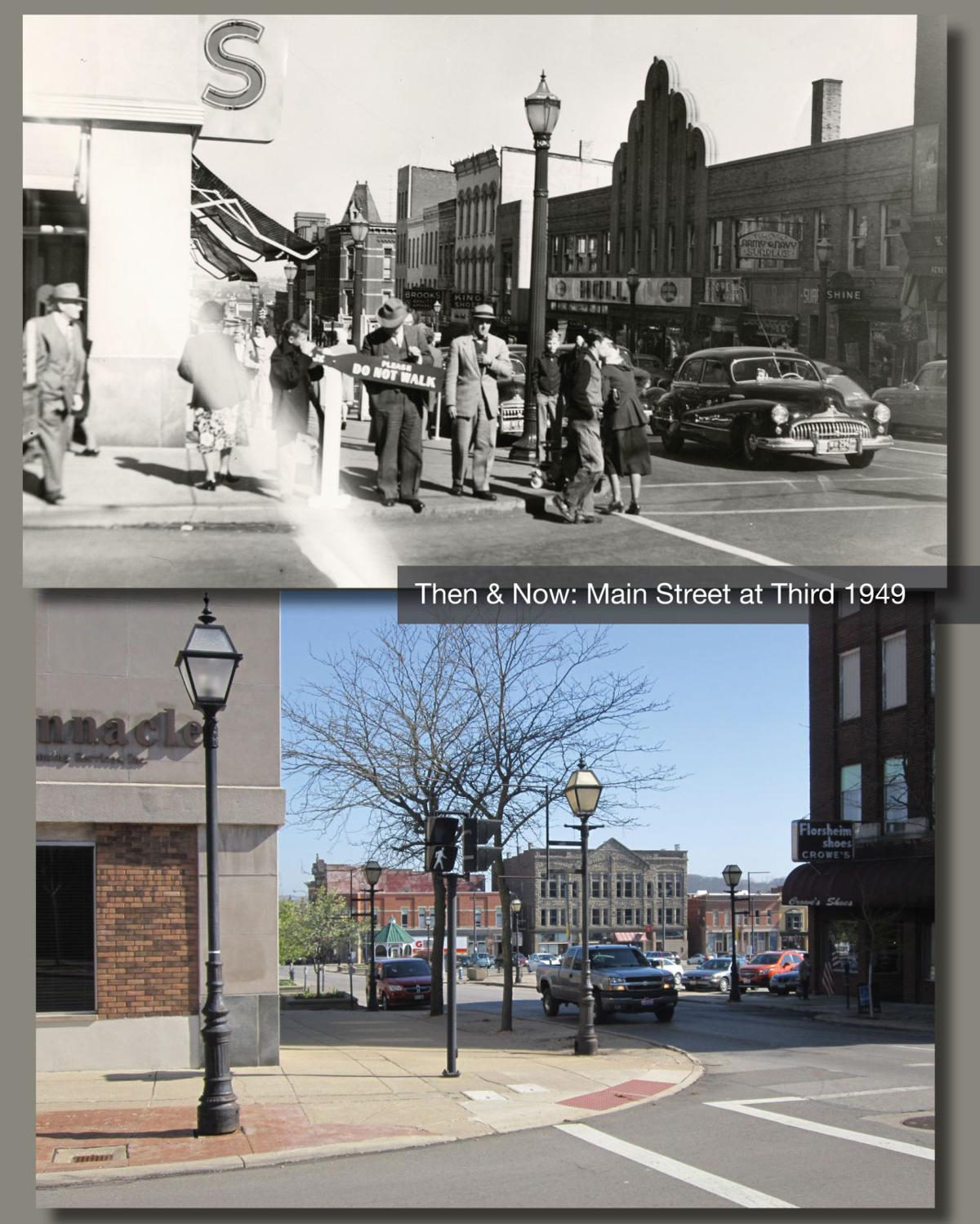 Then & Now: Main Street at Third 1949