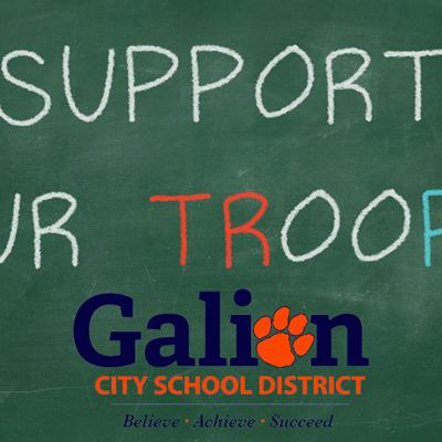 Galion Primary School helping to support troops this holiday season