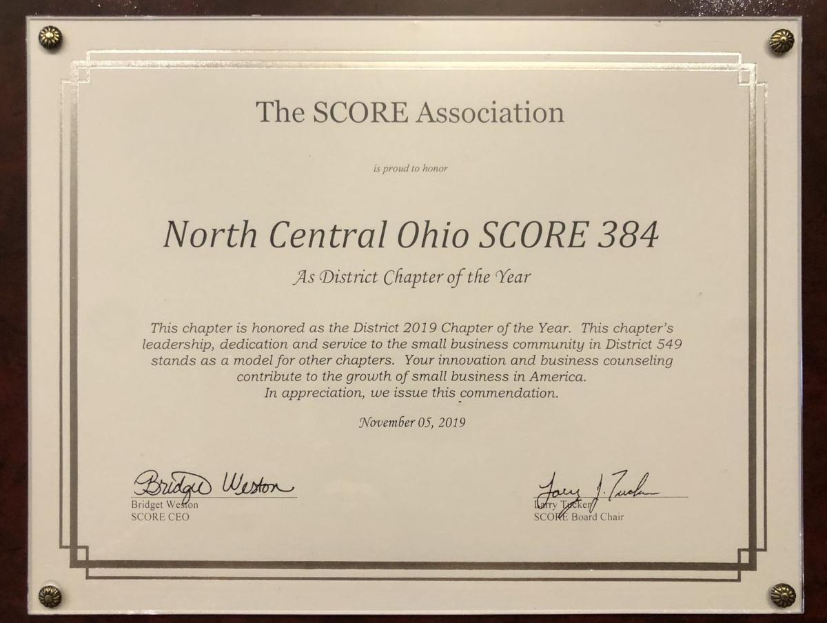 North Central Ohio SCORE District Award