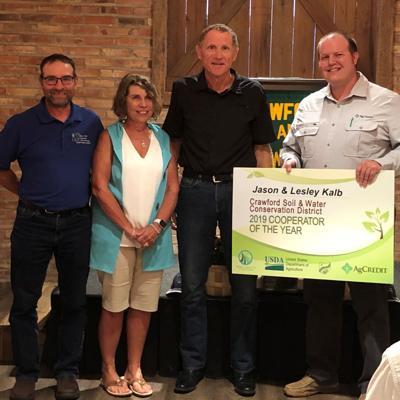 Jason & Lesley Kalb win Crawford County's outstanding cooperator award