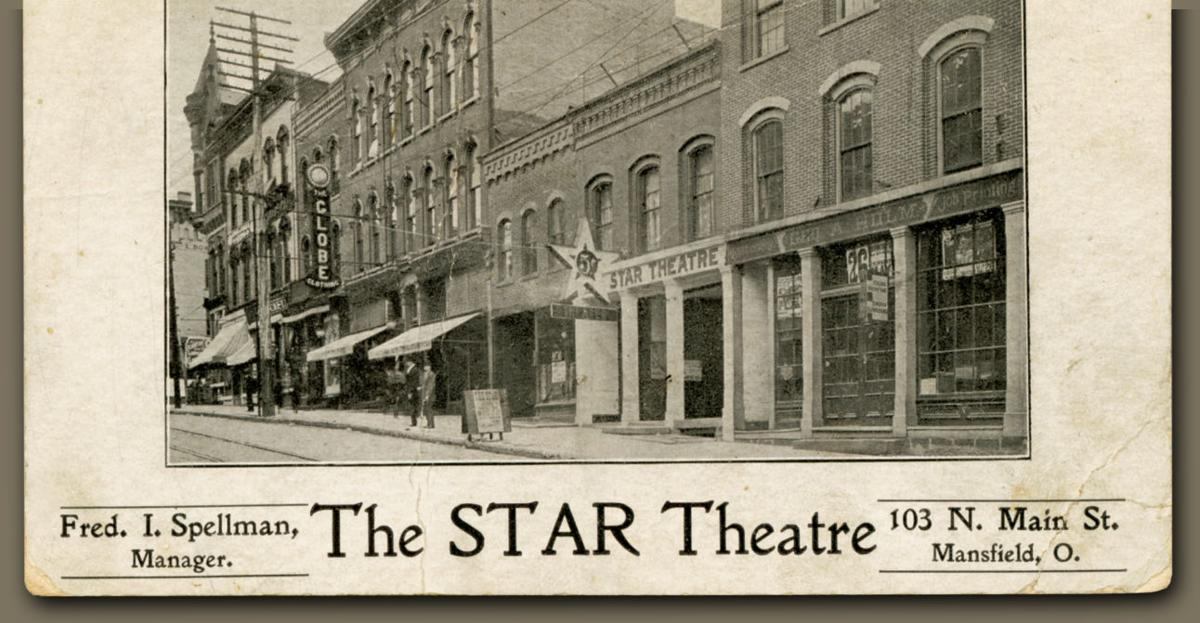 A Star Theatre ad postmarked 1919