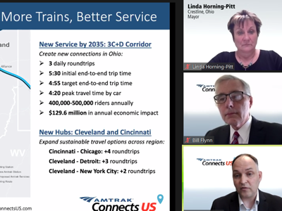 Crestline mayor shares stage with Cleveland, Dayton leaders to promote Amtrak service