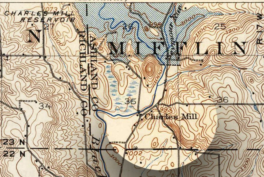 Charles Mill topo map
