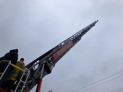 Mansfield aerial ladder truck