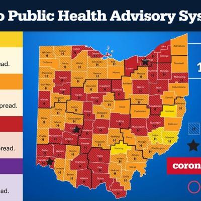 COVID-19: Richland County remains 'red;' Crawford County 'red' for first time