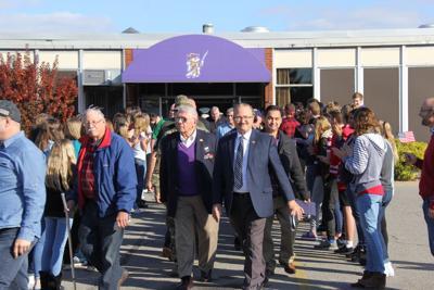 Vets Day Walk -- Lexington High School