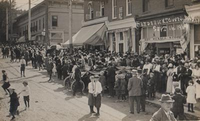Rare photo postcard from Fredericktown Day in 1914