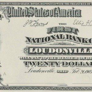 The First National Bank of Loudonville traced its roots to 1867