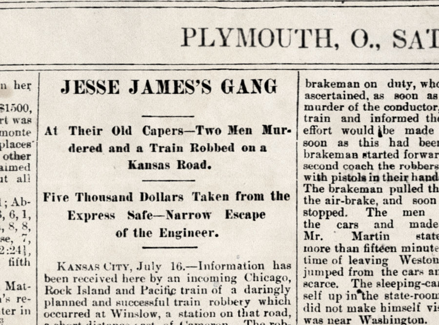 James Gang headlines 1870s