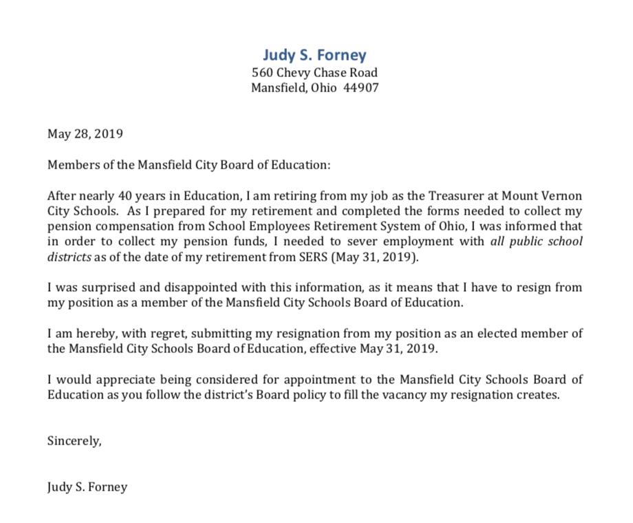 Forney resignation