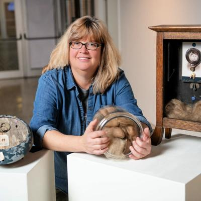 Petry's found objects, including hair, part of AU Art + Design faculty exhibit Jan. 23-Feb. 23