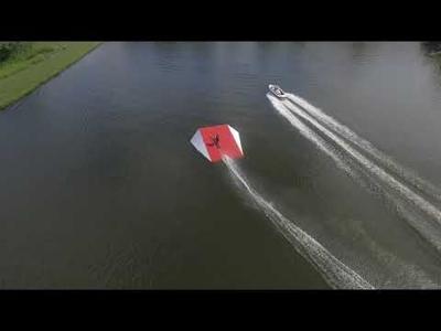 Jim Hooker practices a water ski jump in rural Lucas.
