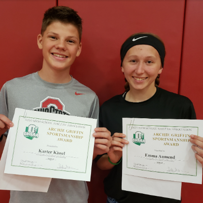 Crestview honors Archie Griffin Sportsmanship Award winners