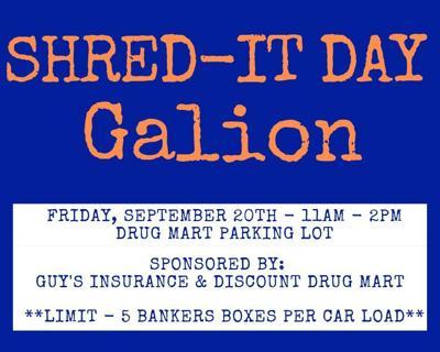 Galion Shred it Day logo