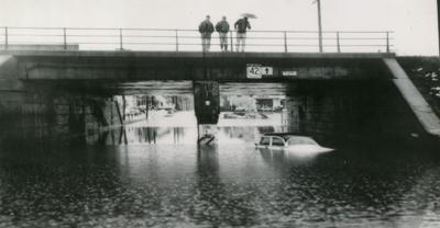 Underpass flood on Park Avenue East 1955