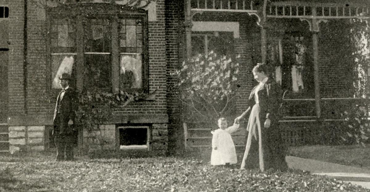 Fourth Street front lawn in 1896