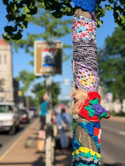 Yarn bombing photo gallery