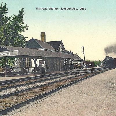 Seven passenger railroads each day stopped in Loudonville