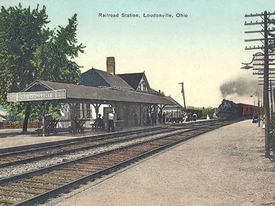 Seven passenger railroads each day stopped in Loudonville