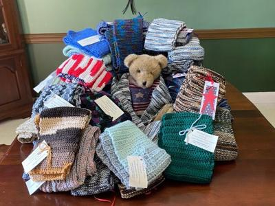 Mansfield chapter of DAR collecting scarfs, hats for Operation Gratitude