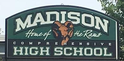 Madison High School sign